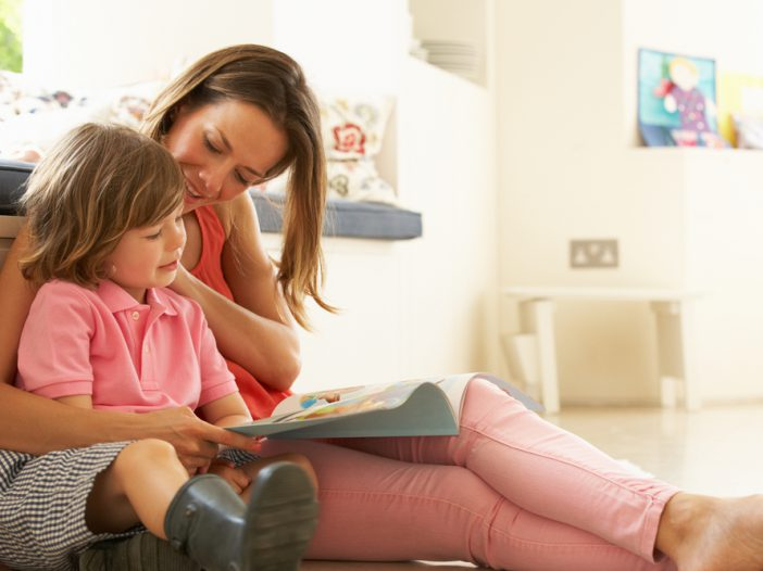 mom helping kid after learning how to teach vocabulary