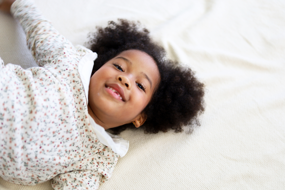 Young girl getting ready for bed