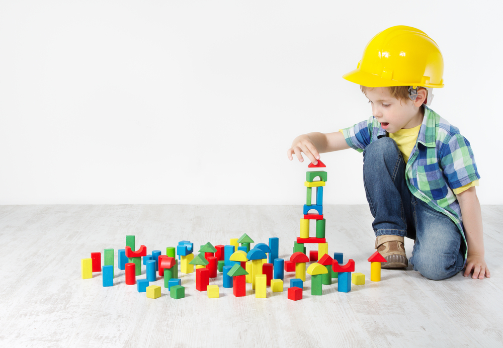 Playing builder is a great activity for 3-year-olds