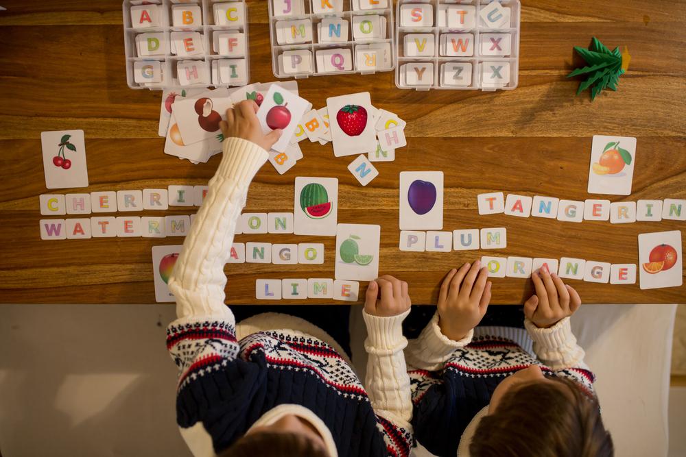 Kids working on vocabulary strategies