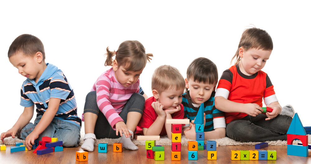 Kids doing activities for 4-year-olds