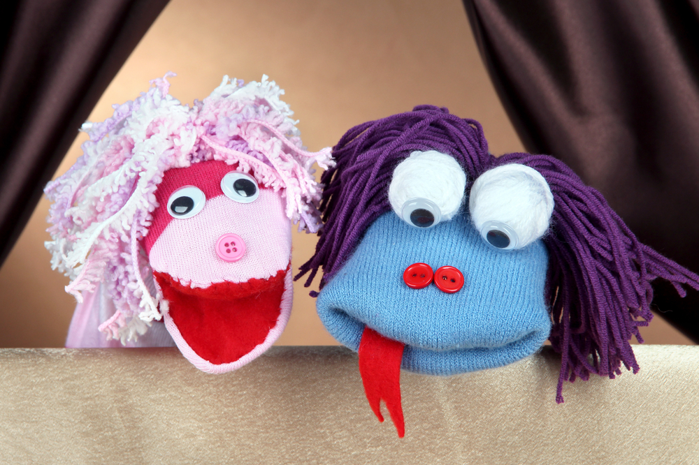 Puppet shows are creative activities for kids