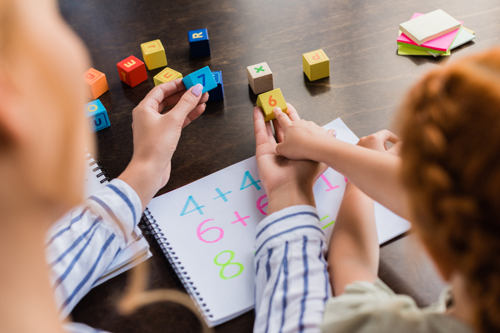 Using blocks to learn first grade math