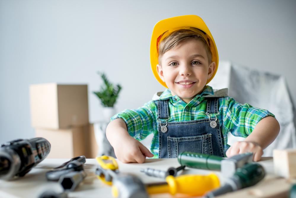 Pretend play construction worker