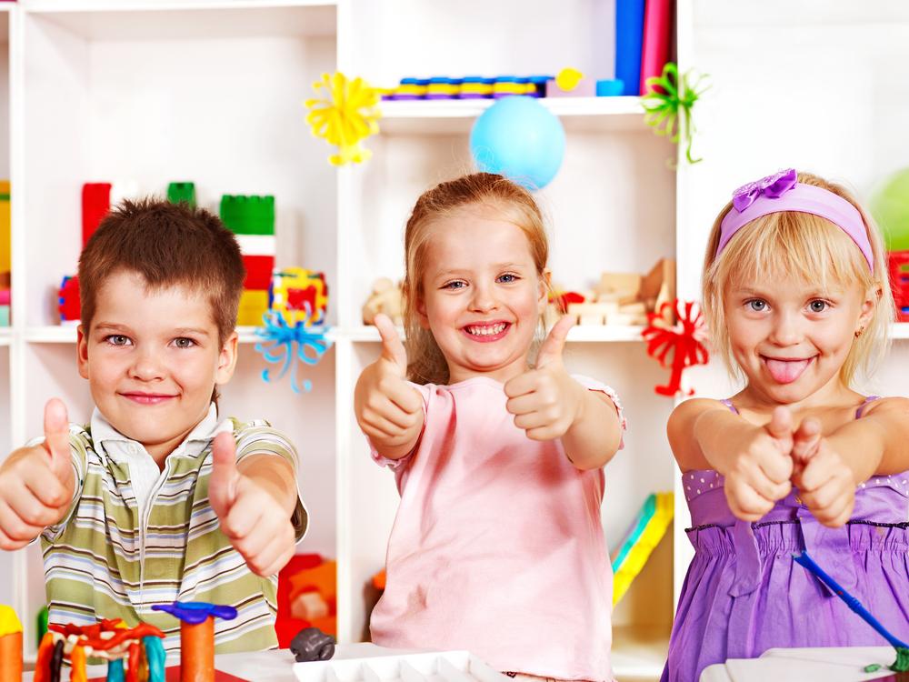 Three kids at school